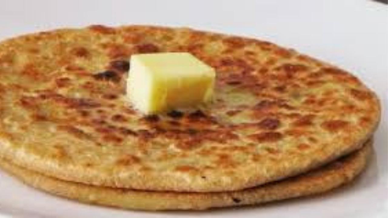 paranthas with curd or butter