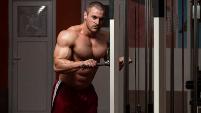 Focus on your tricep muscles