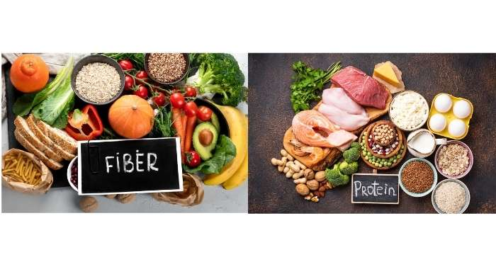 Increase fiber and protein intake