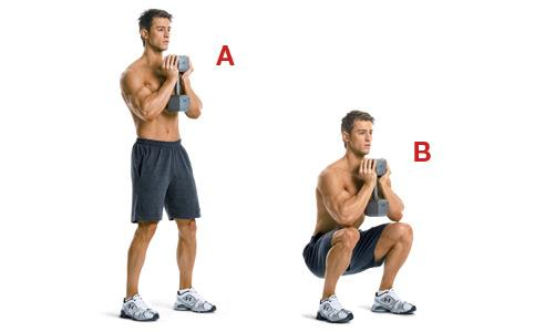 9 best leg exercises at home (Squat)